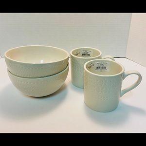 Kate Spade cream willow drive bowls/ mugs